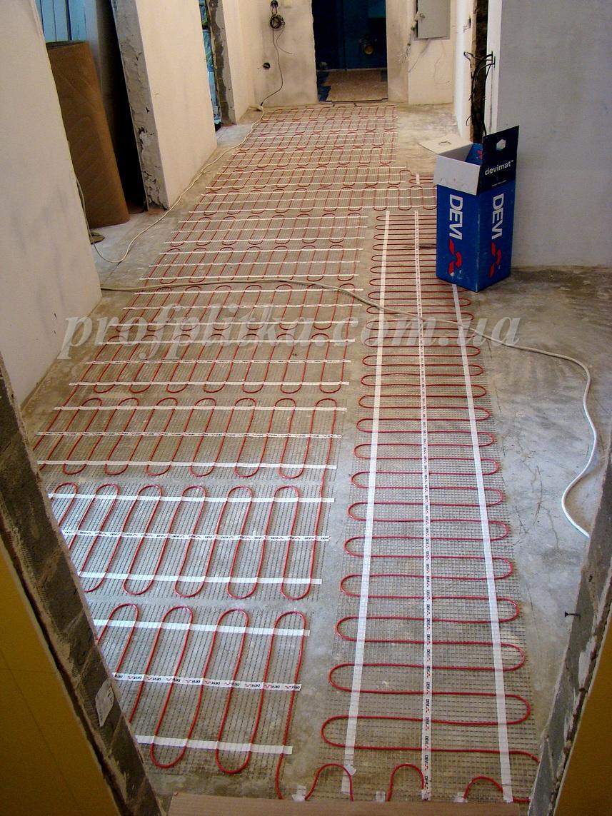 В коридоре тёплый пол своими руками 82